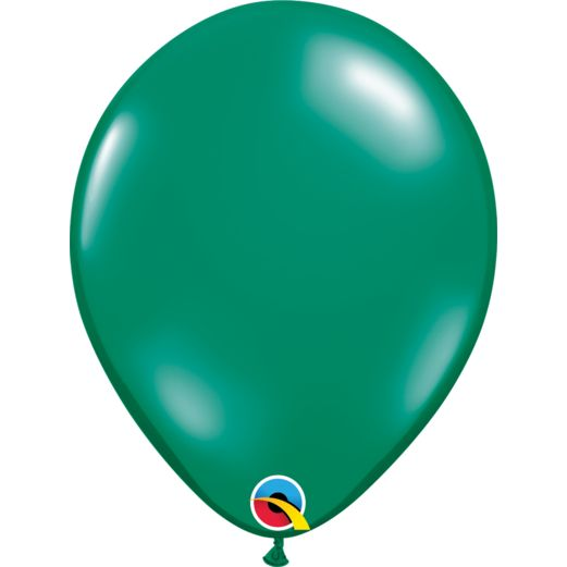 "St. Patrick's Day Balloons 11"" Emerald Green Balloons Image"
