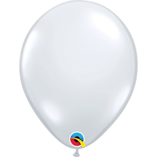 "New Years Balloons 11"" Diamond Clear Balloons Image"