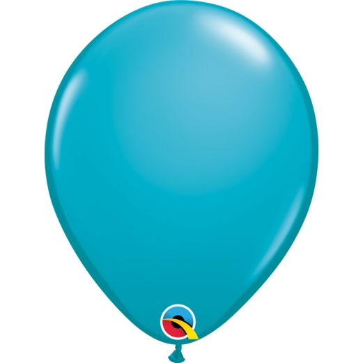 "Luau Balloons 11"" Qualatex Tropical Teal Balloons Image"