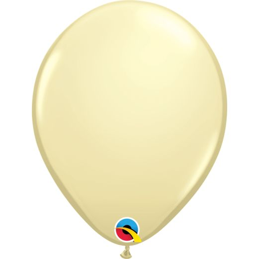 "Wedding Balloons 11"" Qualatex Ivory Silk Balloons Image"