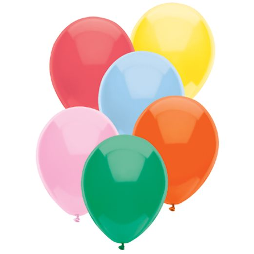 "Balloons 11"" Assorted Standard Balloons Image"