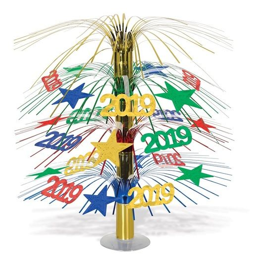 New Years Decorations 2019 Cascade Centerpiece Image