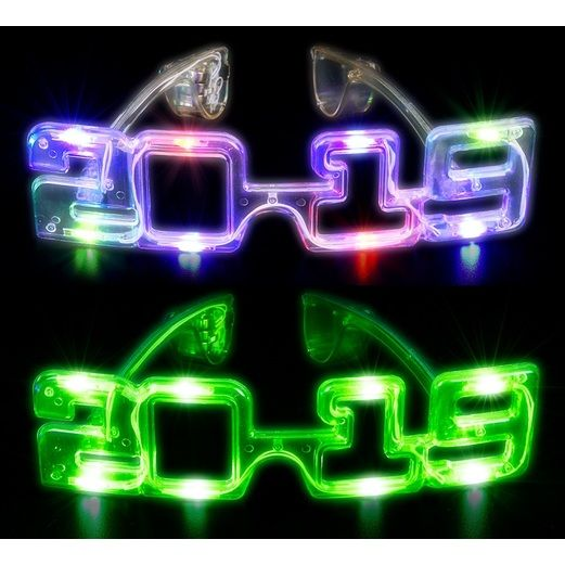 New Years Favors & Prizes 2019 Multicolor LED Flashing Glasses Image