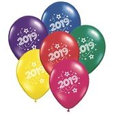 New Years Balloons 2019 Multicolor Balloons Image
