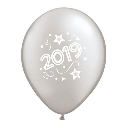 New Years Balloons Silver 2019 Balloons Image