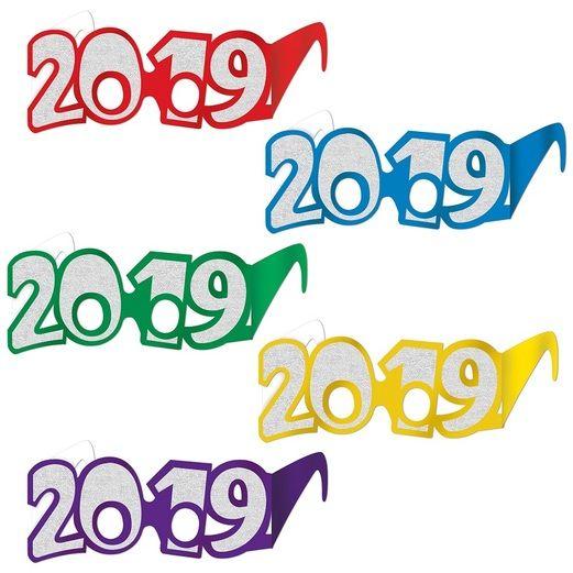 Graduation 2019 Glittered Glasses (Each) Image