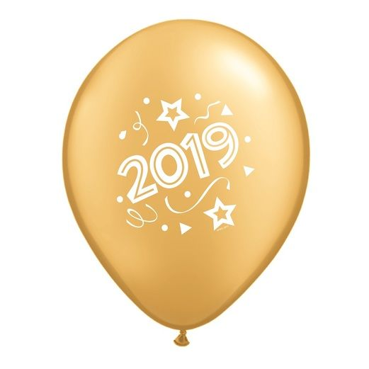 New Years Balloons Gold 2019 Balloons Image