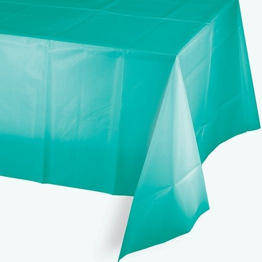 Table Accessories Rectangular Table Cover Teal Image