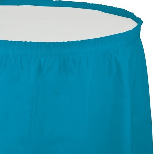 Table Accessories Turquoise Table Skirt Image