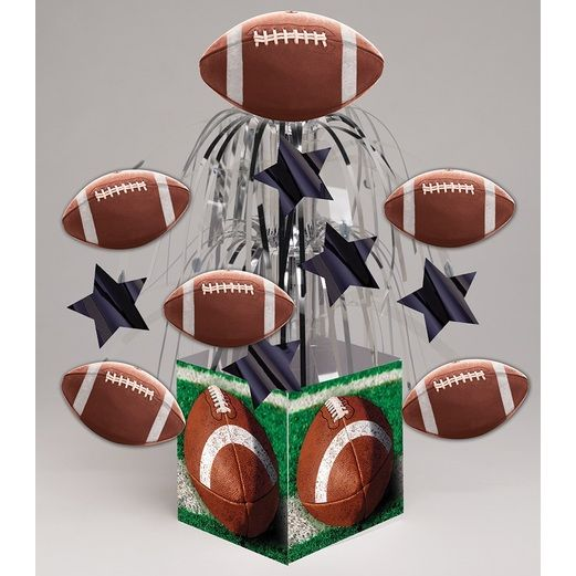 Sports Decorations Mini Football Foil Cascade Centerpiece Image