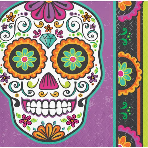 Day of the Dead Table Accessories Dia De Los Muertos Festival Beverage Napkins Image