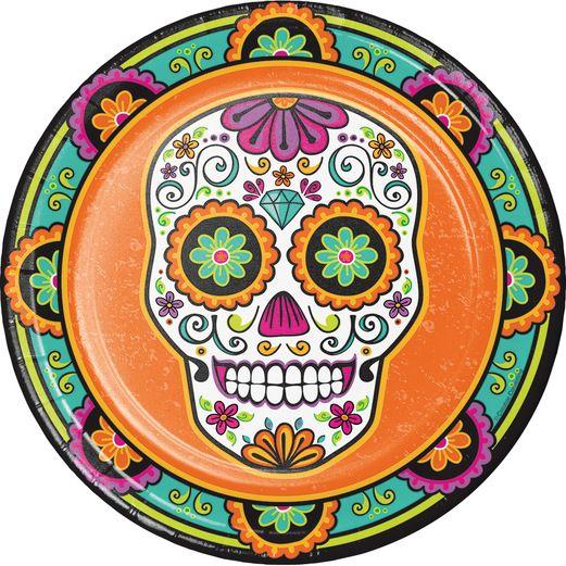 Day of the Dead Table Accessories Dia De Los Muertos Festival Dinner Plates Image