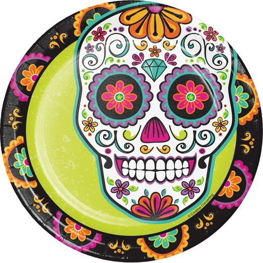 Day of the Dead Table Accessories Dia De Los Muertos Festival Luncheon Plates Image