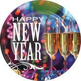 New Years Table Accessories New Year Party Pizzazz Luncheon Plates Image