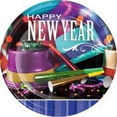 New Years Table Accessories New Year Party Pizzazz Dinner Plates Image