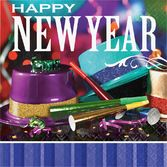 New Years Table Accessories New Year Party Pizzazz Luncheon Napkins Image