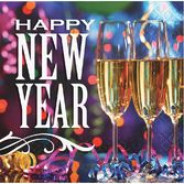 New Years Table Accessories New Year Party Pizzazz Beverage Napkins Image