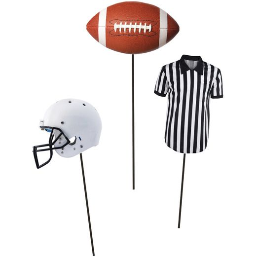 Sports Decorations Football Centerpiece Sticks Image