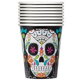 Day of the Dead Table Accessories Skull Day of the Dead Cups Image