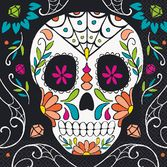 Day of the Dead Table Accessories Skull Day of the Dead Luncheon Napkins Image
