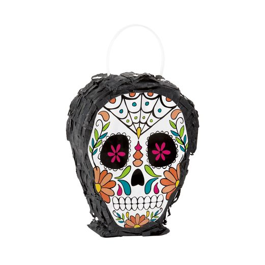 Day of the Dead Decorations Skull Day of the Dead Mini Skull Pinata Image