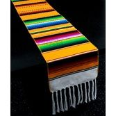 Fiesta Table Accessories Golden Yellow Woven Serape Table Runner Image