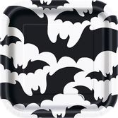 "Halloween Table Accessories Black Bats Halloween 7"" Plates Image"