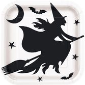 "Halloween Table Accessories Black Bats Halloween 9"" Plates Image"