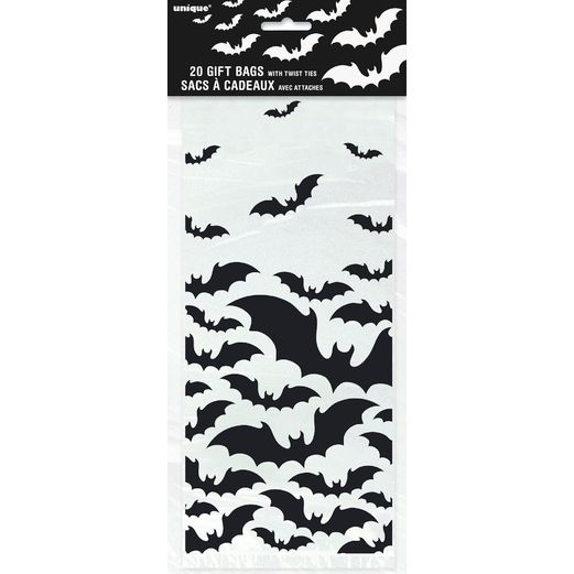 Halloween Gift Bags & Paper Black Bats Halloween Cello Bags Image