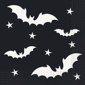 Halloween Table Accessories Black Bats Halloween Luncheon Napkins Image