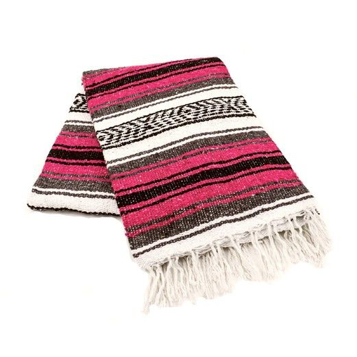 Cinco de Mayo Decorations Magenta Mexican Blanket Image