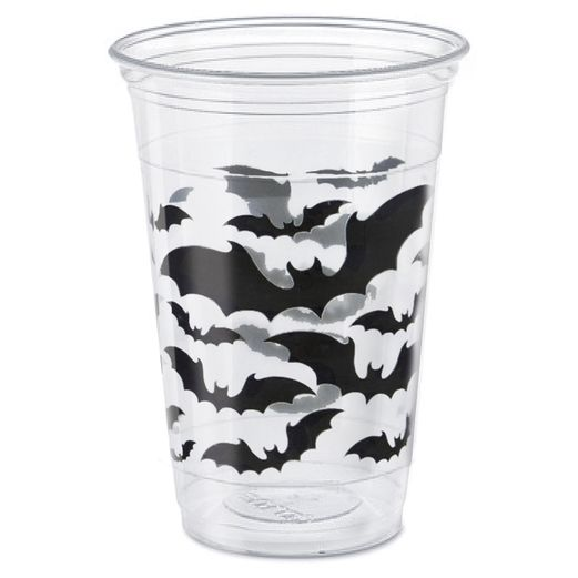 Halloween Table Accessories Black Bats Halloween 16 oz. Plastic Cups Image