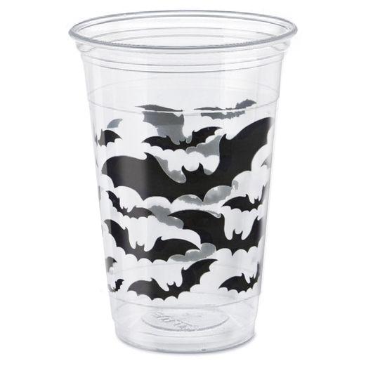 Halloween Table Accessories Black Bats Halloween 16 oz. Plastic Cups Image