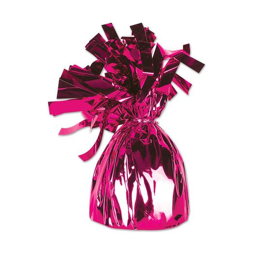 Valentine's Day Balloons Hot Pink Metallic Balloon Weight Image