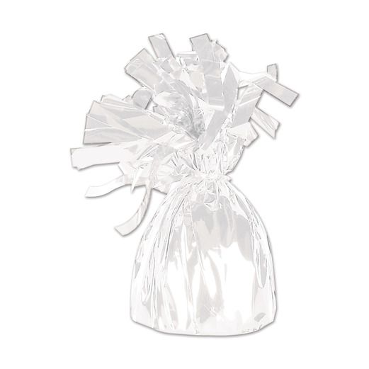 Valentine's Day Balloons White Metallic Balloon Weight Image