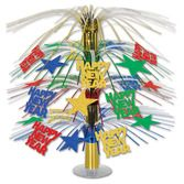 New Years Decorations Happy New Year Cascade Centerpiece Image
