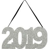 New Years Decorations 2019 Glittered Sign Image