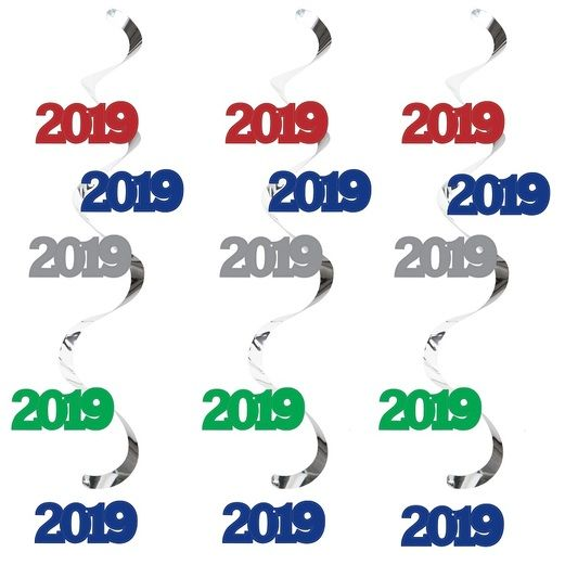 New Years Decorations 2019 Assorted Color Dizzy Danglers Image