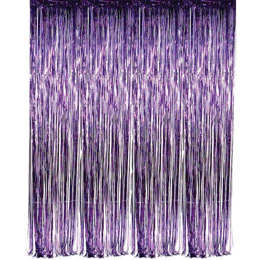 Decorations / Hanging Decorations Purple Metallic Fringe Curtain Image