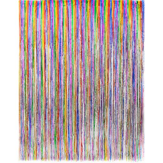 New Years Decorations Multicolor Metallic Fringe Curtain Image