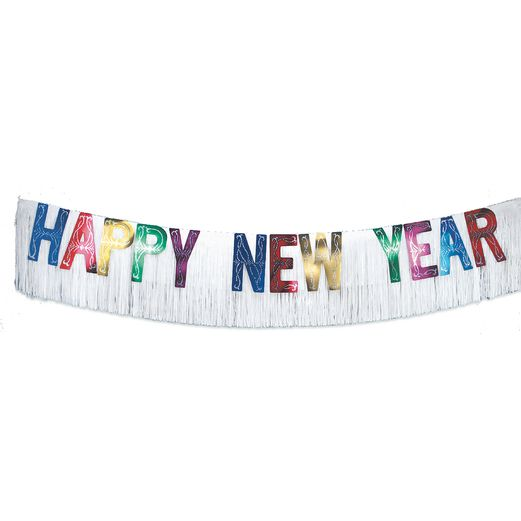 New Years Decorations Giant Multicolor New Year's Banner Image