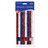 4th of July Decorations Red,White, and Blue Fringe Curtain Image