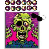 Halloween Decorations Pin The Eyeball on the Zombie Game Image