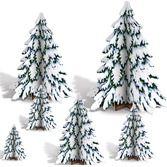 Christmas Decorations 3D Winter Pine Tree Centerpieces Image