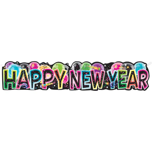 New Years Decorations Giant Happy New Year Banner Image