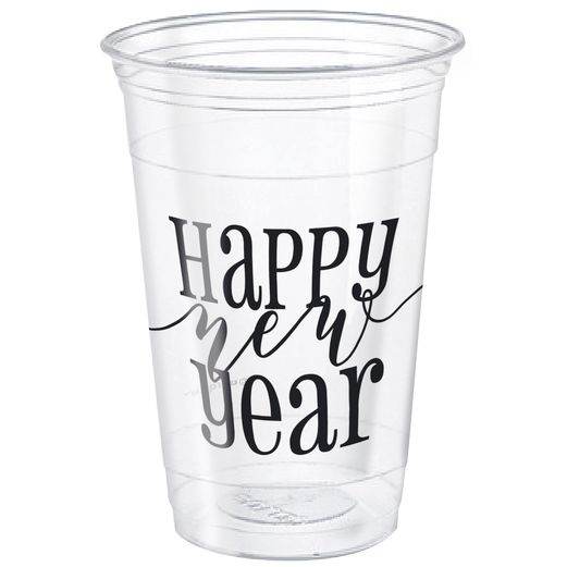 New Years Table Accessories Happy New Year Plastic Cups Image