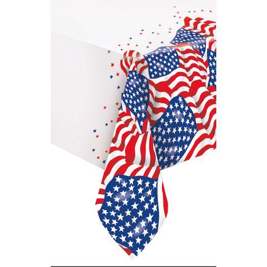 USA Flag Plastic Tablecover