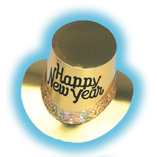 New Years Hats & Headwear Gold Glitz New Year Top Hat Image