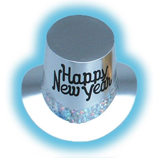 New Years Hats & Headwear Silver Glitz New Year Top Hat Image