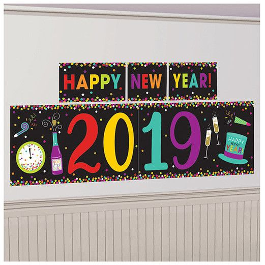 New Years Decorations 2019 New Year Multicolor Backdrop Image